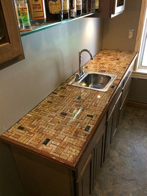 clear epoxy for table tops cork countertop covered with ultra clear epoxy bars