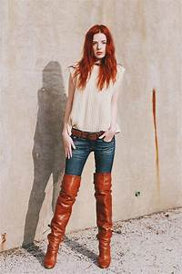 Thigh boots with jeans http//womenlovefashion.tumblr.com/ | Tinau0026#39;s fashion | Pinterest