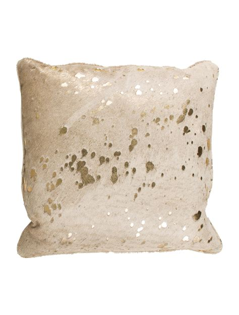 Metallic Cowhide Pillow by Throw Pillow Metallic Cowhide Throw Pillow Pillows
