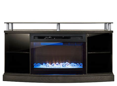 colby  tv console  electric fireplace silver