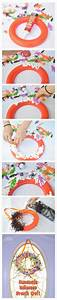 Homemade Halloween Wreath and Picture Frame Craft Using