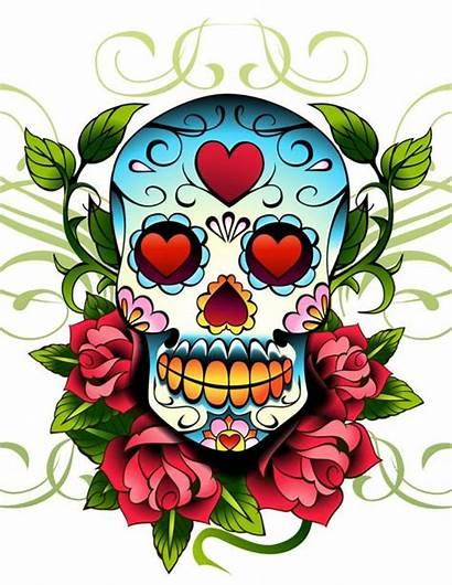 Designs Tattoos Skull Rose Flowers Heart Inspirationseek