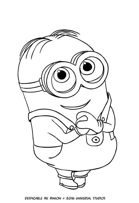 disegni da colorare minions pdf disegno minion dave