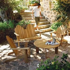 Salon De Jardin Terrasse : entretenir un salon de jardin en teck astuces d co ~ Teatrodelosmanantiales.com Idées de Décoration