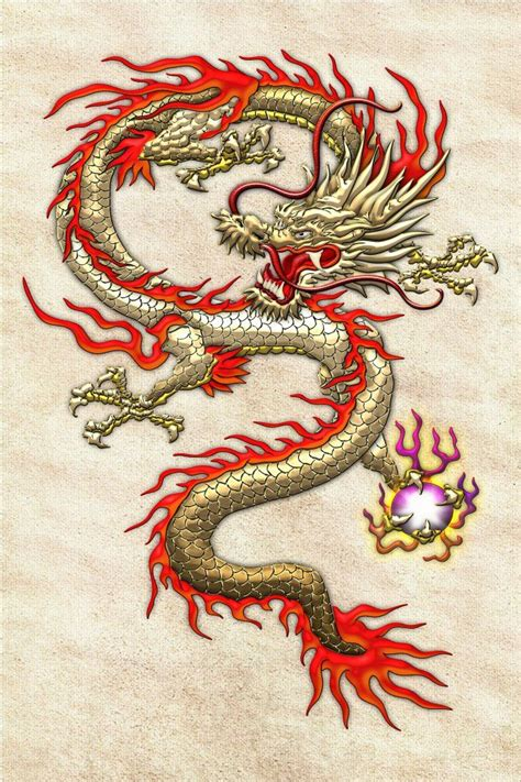 golden chinese dragon fucanglong  rice paper  serge averbukh retro font chinese dragon