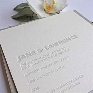 embossed letterpress wedding invitation by wolf ink With wedding invitation embossing stencil