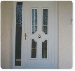 portes d39entree en pvc serplaste With porte d entrée pvc avec kit salle de bain