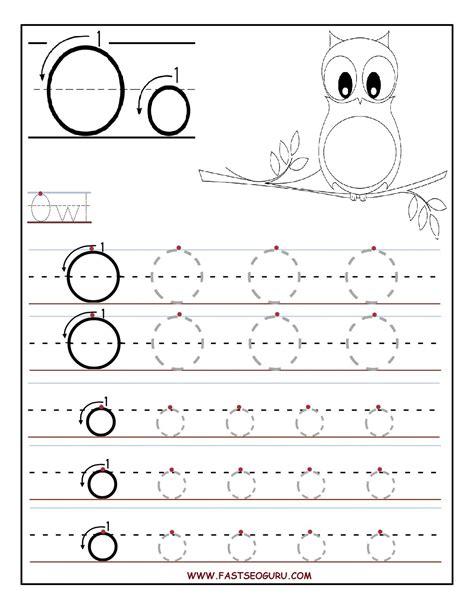 printable letter o tracing worksheets for preschool