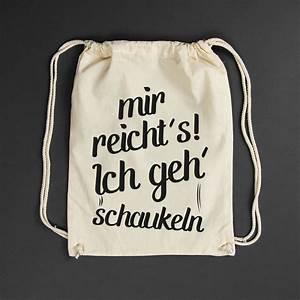 Ich Gehe Schaukeln : 14 besten turnbeutel mit spr chen bilder auf pinterest ~ A.2002-acura-tl-radio.info Haus und Dekorationen