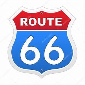Route 66 Schild : route 66 schild in rot und blau stockvektor pockygallery 13293532 ~ Whattoseeinmadrid.com Haus und Dekorationen