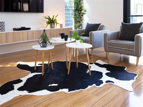 How To Make A Cowhide Rug by Mocka Faux Cowhide Rug Living Room Decor