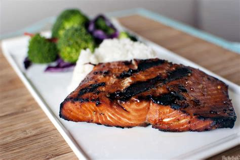 bbq salmon grilled salmon and bicycle races pass the sushi