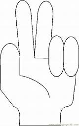 Fingers Coloring Printable Coloringpages101 sketch template
