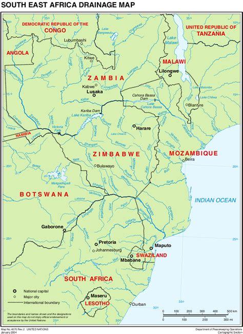 map  africa south east worldofmapsnet  maps