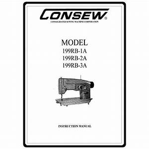 Instruction Manual  Consew 199rb