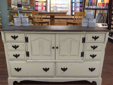 hutch painted  rustoleum chalk paint  cream chiffon  pebble hardware spray painted
