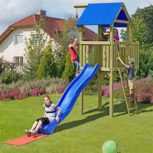 spielturm eroberer mit rutsche und 2 fallschutzmatten von With französischer balkon mit klettergerüst mit schaukel garten