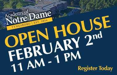 academy  notre dame open house  prek  greater