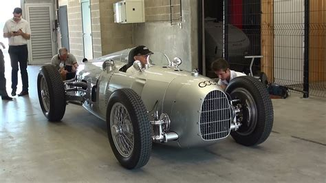 Auto Union Grand Prix Racing Car Type C, 1936 V16 Start Up