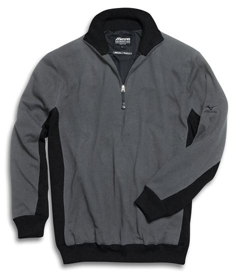 mizuno mens windlite 1 4 zip neck sweater golfonline