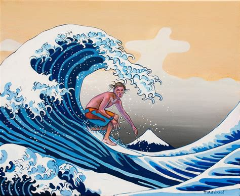 Japanisches Bild Welle by The Great Wave Amadeus Series Figures Painting Surfing