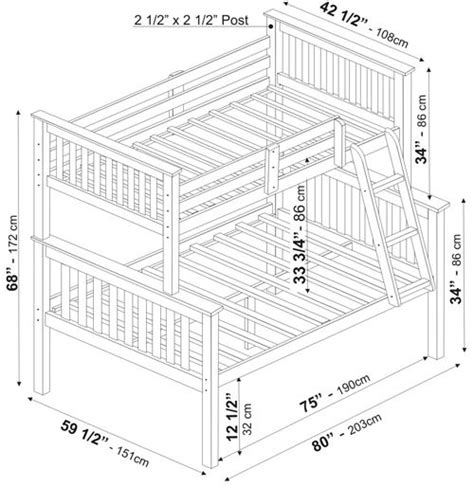 Bunk Bed Dimensions by Mission Bunkbed By Palace Imports