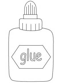 Glue Coloring Page Printable