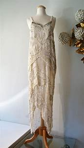reserved 20s style beaded flapper wedding dress beads With vintage 20s wedding dresses