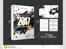 Diary Cover Design For New Year 2017 Stock Illustration