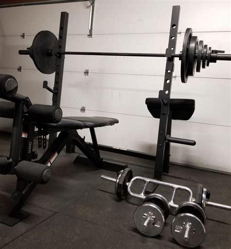 weider pro bench presssquat rack weight set  sale  perris ca offerup