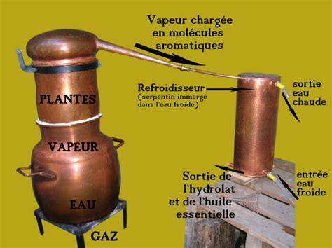 fabrication des hydrolats et huiles essentielles