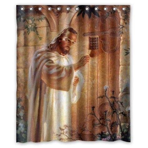 inspirational religious knocking  door jesus shower