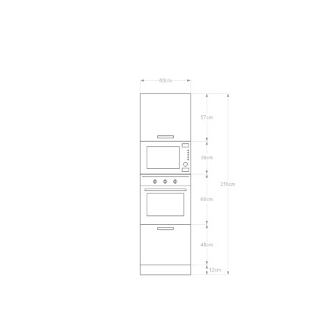CLN060I Colonna Forni per cucina componibile ARREDACLICK