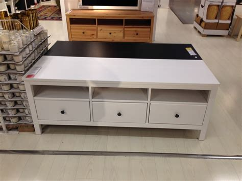 meuble tv ikea hemnes blanc table de lit