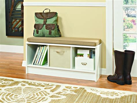 mudroom storage bench small space mudroom solutions hgtv