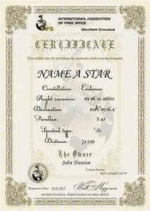 star naming certificate template 6 best and With star naming certificate template