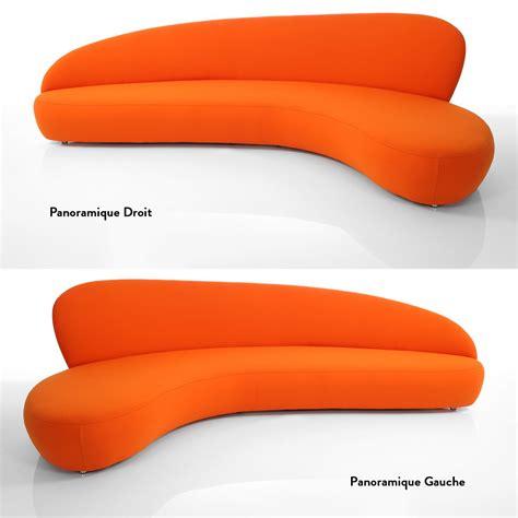 canapé orange canapé orange newton meubles et atmosphère