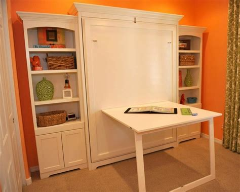 bed with built in desk murphy bed desk home office modern with built in storage