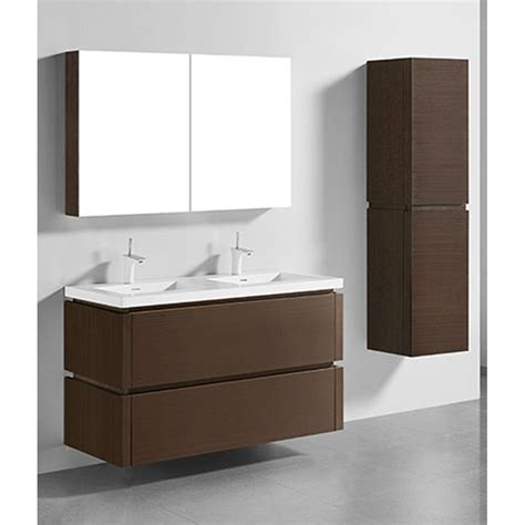Mounted Vanity by Madeli Cube 48 Quot Wall Mounted Bathroom Vanity For