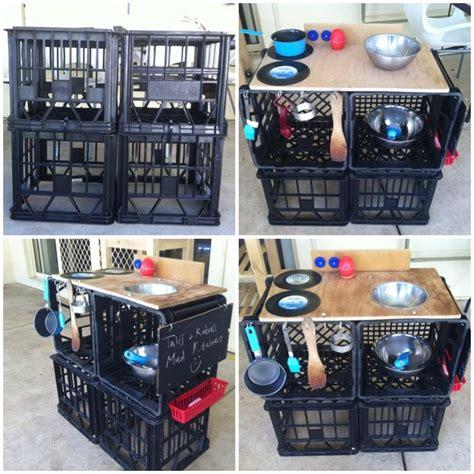 play kitchen storage milk crate mud pie kitchen quot outdoor mud kitchen 1550