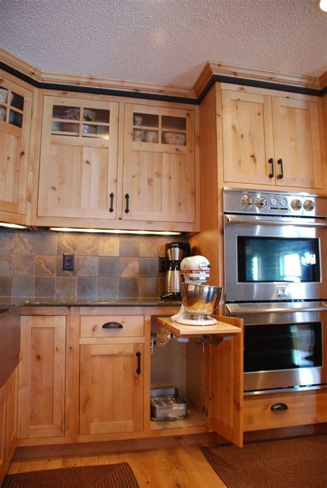 knotty alder kitchen cabinets pine kitchen cabinets