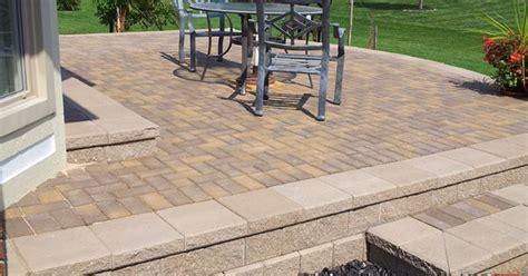 Unilock Pisa 2 - raised brick paver patio with unilock pisa ii retaining