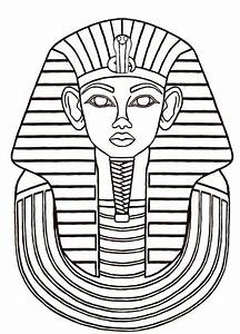 egyptian masks templates - egyptian sarcophagus designs then i did a line drawing
