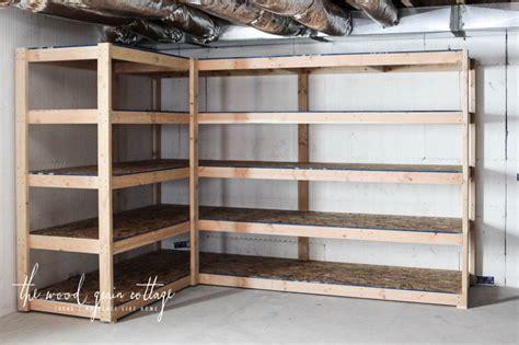 shelves for basement storage diy basement shelving the wood grain cottage