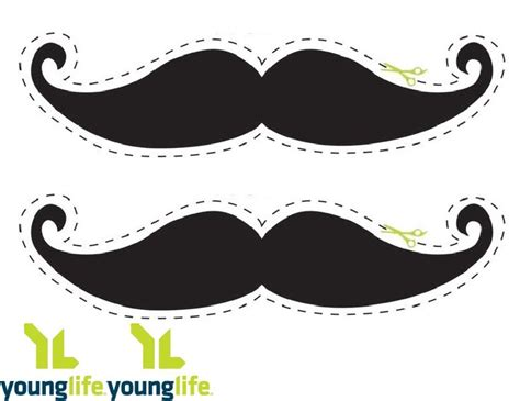 printable mustache pattern  printable