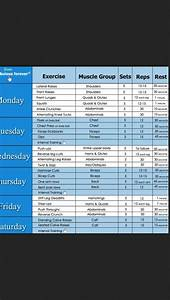 Workout Schedule Workout Routines For Women Workout