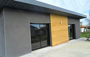 construction dune maison moderne avec toiture bac acier With type de toiture maison 2 toit en thermotop