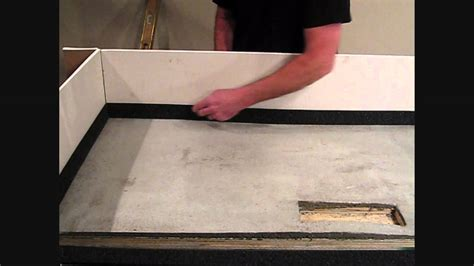 using edge kits and self leveling underlayment to