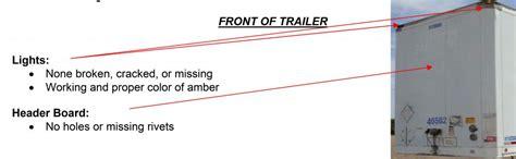 pre trip inspection tractor trailer cdl testcom cdl