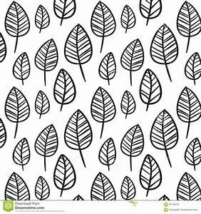 Black And White Leaves Stock Illustration - Image: 66748433